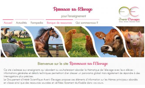 Le site internet « Ressources sur l'élevage » est en ligne !