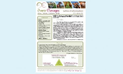 La lettre d'information du GIS Avenir Elevages vient de paraître