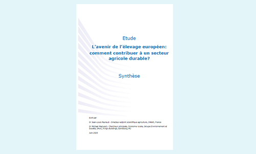 Publication « L'avenir de l'élevage européen: comment contribuer à un secteur agricole durable? »